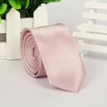 brand ties gravata corbatas hombre Light pink man Polyester 5cm necktie Watch video below