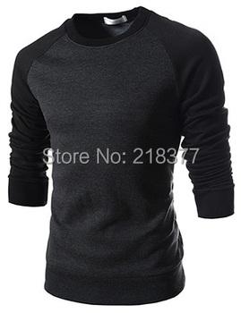 Sudaderas хомбре 2015 зимняя одежда марка толстовка мужчины теплый ватки толстовки о-образным шеи лоскутная толстовки бесплатная доставка размер M-3XL