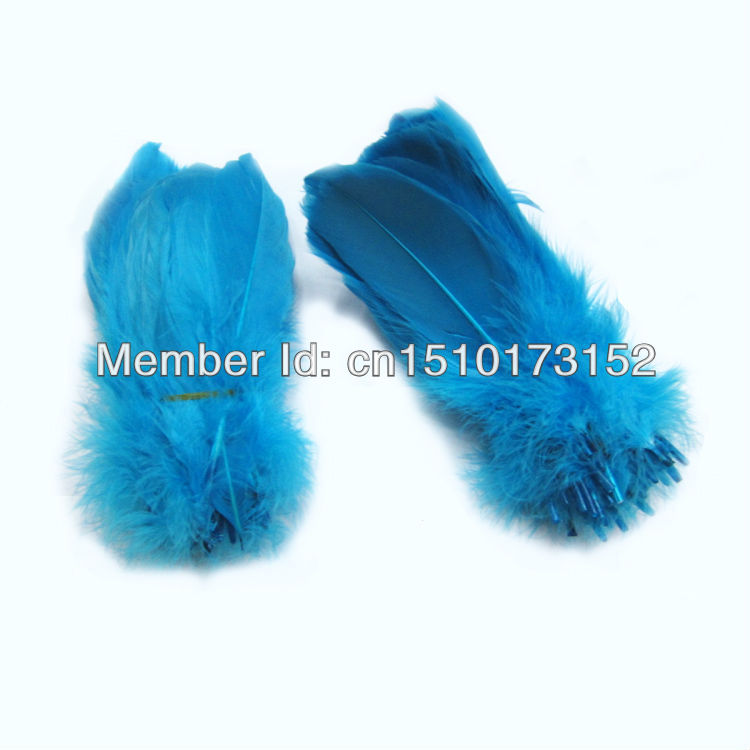 20s DIY Sea Blue Soft Rod Goose feather 5-7inches/13-18cm Crafts RP-7 - TiTi Feather Market store