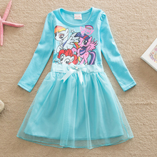 One pca!!2016 summer girls dress Children's clothing baby girls clothes,Girls cute Princess dress,Girls little pony dress(China (Mainland))