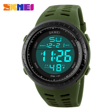 Buy SKMEI Luxury Brand Men Sports Watches Fashion Digital Led Display Sport Mens Waterproof Resistant Wristwatches Relogio Masculino for $10.99 in AliExpress store