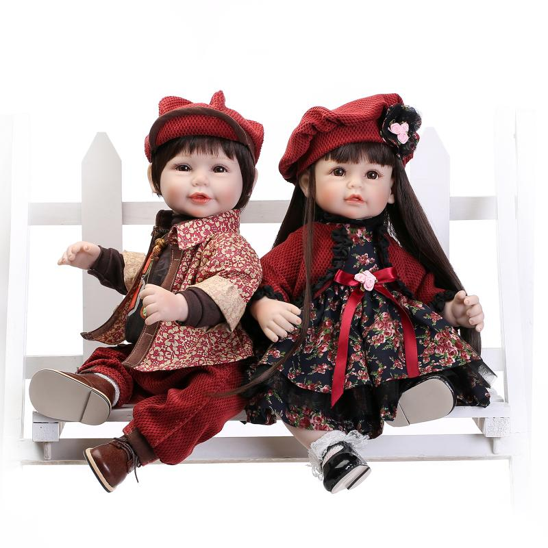 52CM lovely doll reborn lifelike girl/boy doll toys wedding gift children toys