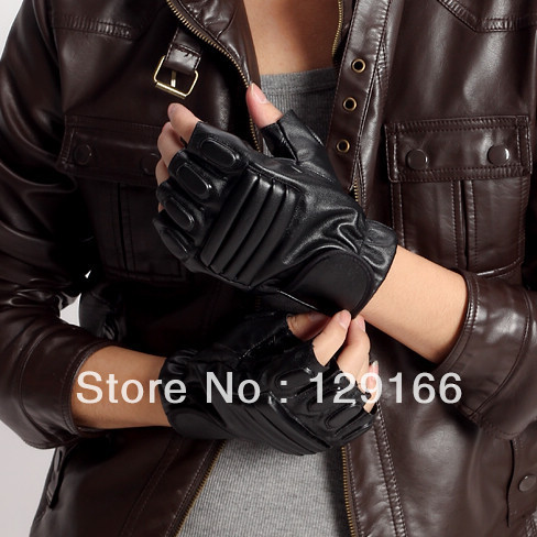 Fingerless Leather Gloves Men Leather Gloves Fingerless