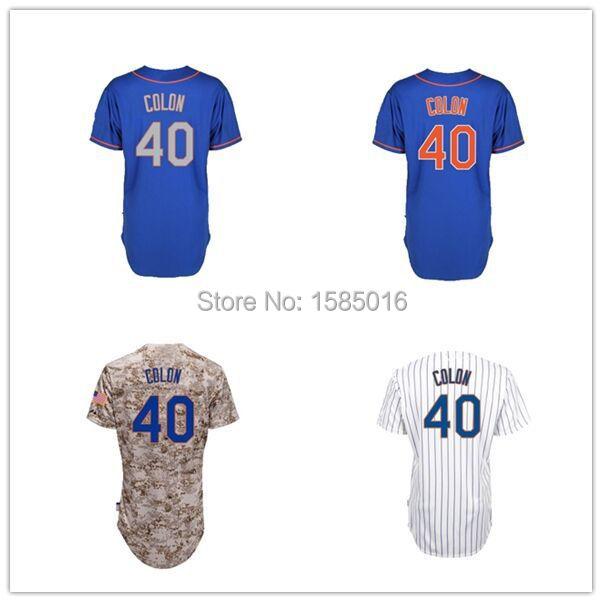 2015 New Arrival 40 Bartolo Colon Jersey mens camo New York Baseball jerseys Stitched Embroidery cheap authentic sport M-XXXL(China (Mainland))