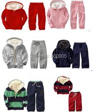 retail G*P brand children/kids winter hoodie hoodies girls boys clothing outerwear fur coats coat + pants girl boy 2 pcs set