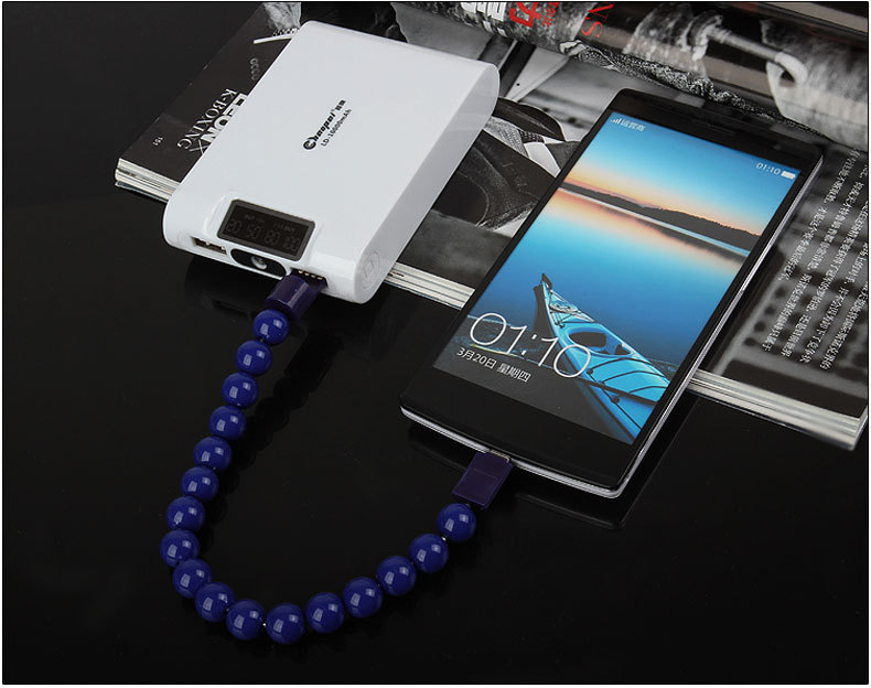 Image result for Universal Wearable Bead Bracelet Micro USB Charging Cable For All Android Devices