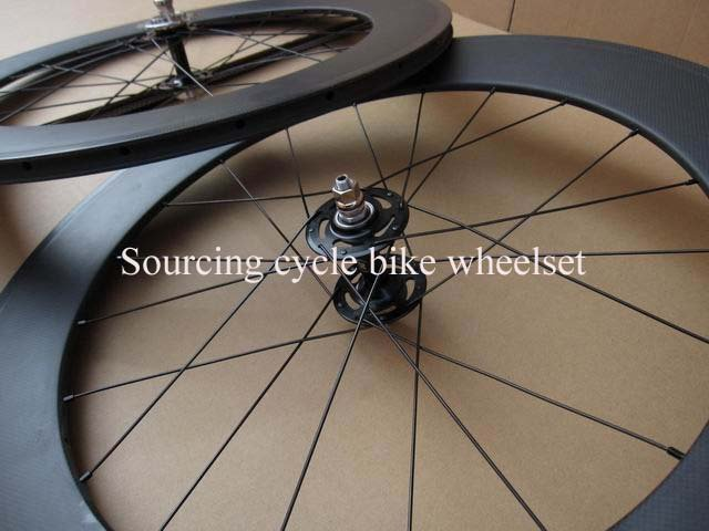 700c track bicycle wheelset,88mm clincher full carbon fiber fixed gear wheels 3k matte with 20/24 holes