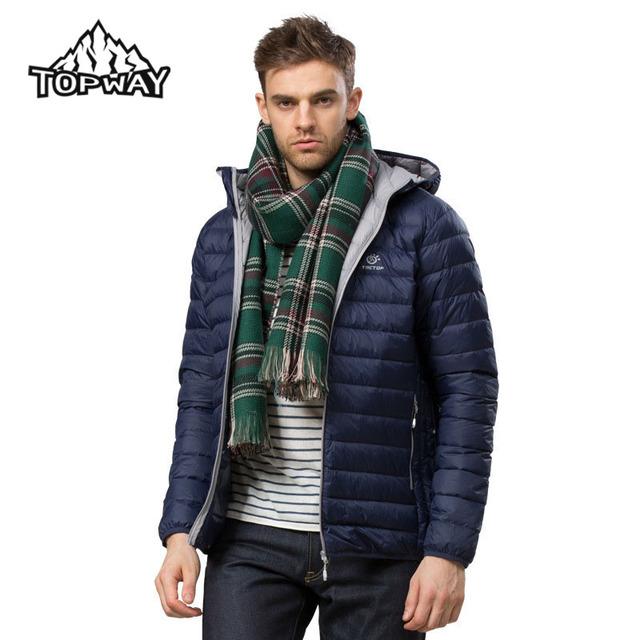 Новинка скалозуб легкие ультра-легкие утка пуховик мужчин теплое зимнее пальто водостойкой ...
