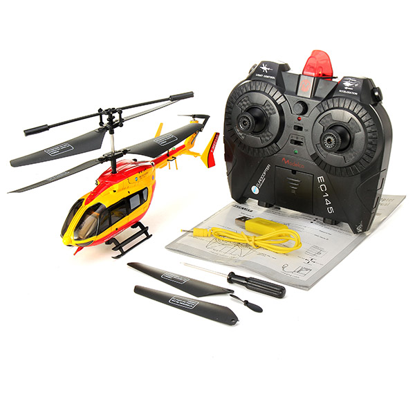 EC145 3CH I/R Alloy Remote Control RC Helicopter With Gyro(China (Mainland))
