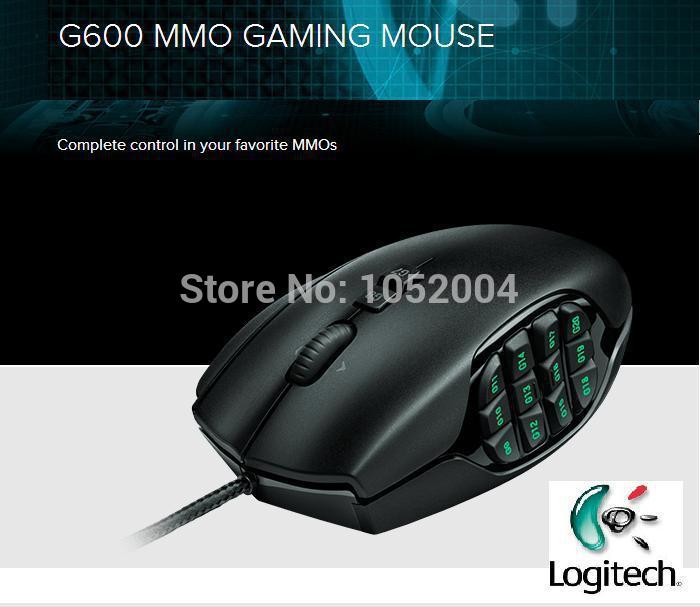 Gaming Mouse Computer Brand Mause Gamer Logitech G600 Professional Wired Programming MMO backlight 100% original(China (Mainland))