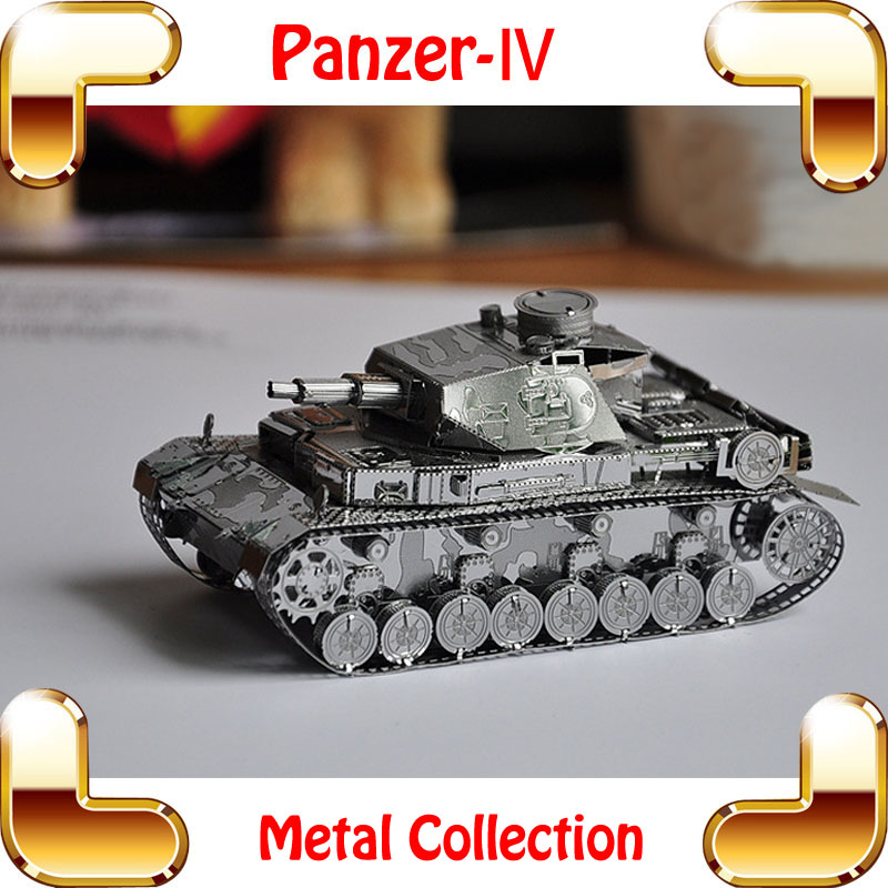 Cool MEN Gift Panzer IV 3D Model World War 2 German Tank Metal Model Weapon Car Game Puzzle DIY Home Office Decoration Toy(China (Mainland))