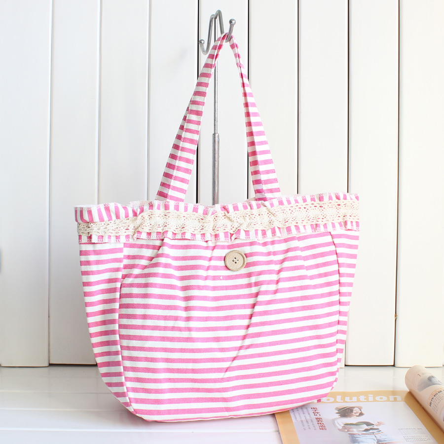 2014 new fashion handbag canvas bag women's preppy style all-match lace shoulder - Robber store