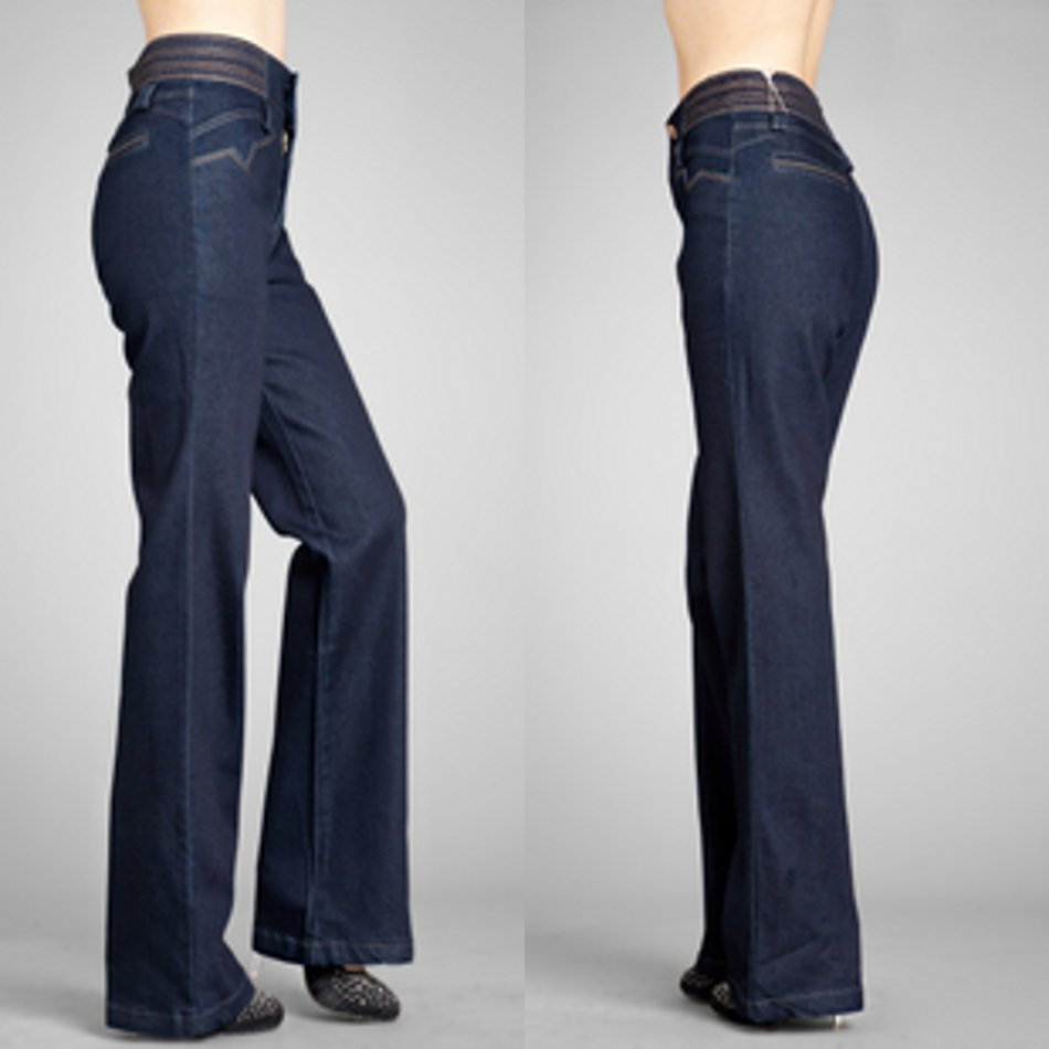 Over the years, many other women have rocked high waist wide leg pants. Katharine Hepburn was also famous for this look, sporting wide legged men's slacks both on and off screen. Diane Keaton donned wide legged trousers in the s and continues to make the look her own.