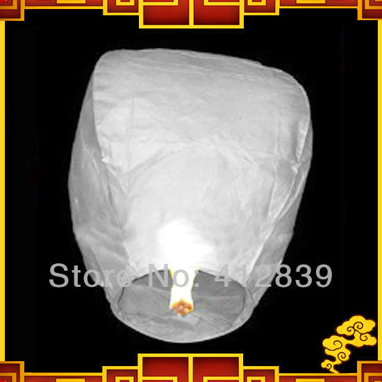 New Style Oval Shape 15pcs/Lot Chinese Flying Ballloon White Wishing Sky Lanterns For Wedding with Free shipping