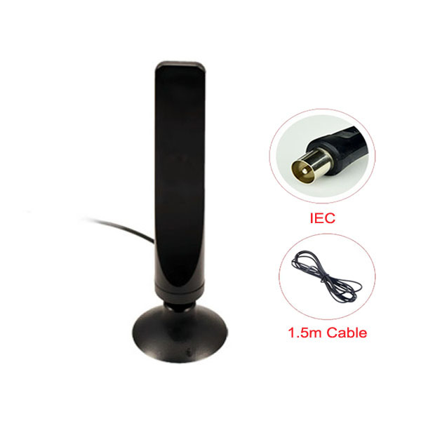 Direct Marketing Digital TV Antenna Indoor For DVB-T TV HDTV 16dBi Signal Antenna With IEC 1.5M RG174 Cable Free shipping(China (Mainland))