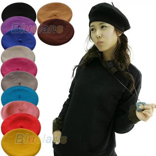12 Colors Women Beret Hat Elegant Artist Rabbit Fur Lapin Newsboy Beanie Fashion Spring Autumn Winter Faux Fur Hat 06CD(China (Mainland))