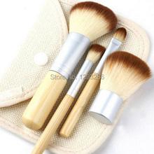1set/4Pcs Bamboo Elaborate Powder Blending Eyeshadow Makeup Brushes Professional Cosmetic Make Up Brush Set Best Quality! lsp8