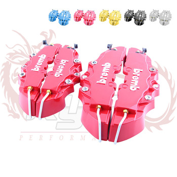 KYLIN STORE -  Bremb Look Brake Caliper Cover Kit Front/Rear 4pcs (Red,blue,yellow SILVER) The default color is red