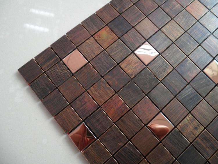 Гаджет  free shipping,  bronze mixed steel mosaic tiles wall covering ,  HME8508, homer mosaic,11 sq ft/lot None Строительство и Недвижимость