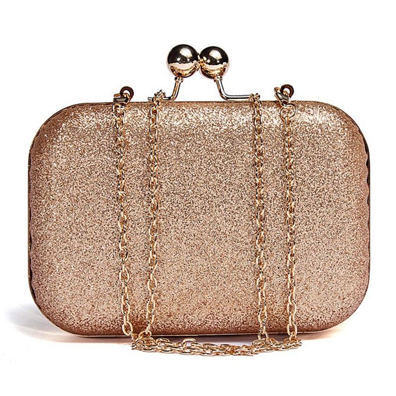 Evening Bag Lady Women Party Wedding Glitter Chain Clutch Case Box Handbag Purses Hight Fashion Elegant Style Cute Shoulder Bag(China (Mainland))