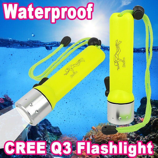 CREE Q3 180Lm LED Light Dive Flashlight 25m 3W Diving Sports Torch Waterproof SCUBA Submersible Hand Lamp Under Water Spotlight(China (Mainland))