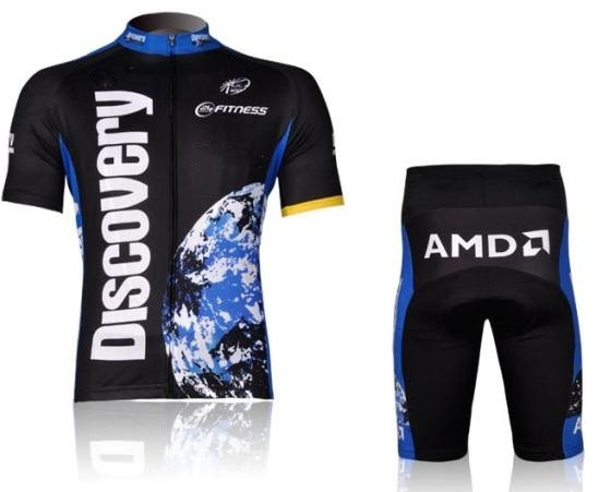 Free shipping!!! 2007 DISCOVERY short sleeve cycling wear clothes short sleeve bicycle/bike/riding jersey+pants