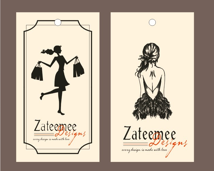 Buy Custom Brand Name Logo Design Boutique Fashion House Paper Price Hang Tag