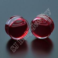 Förderung 1 Para Rote Flüssigkeit Blut Ohr Messgeräte Acryl Ohrstöpsel Ohrringe Gauges Body Piercing Schmuck Pircing Mischt 9 Größe(China (Mainland))