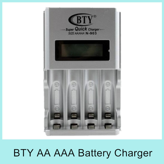 New LCD Super Quick Electric Charger for AA AAA Ni-Cd Ni-Mh Rechargeable Standard Battery Batteries BTY N-903 Free Shipping Sale