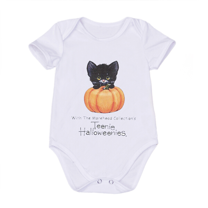 Halloween Baby Girls Boy Bodysuit White Cotton Infant Body Short Sleeve Clothing Carter Jumpsuit Customizable Printed Bodysuits<br><br>Aliexpress