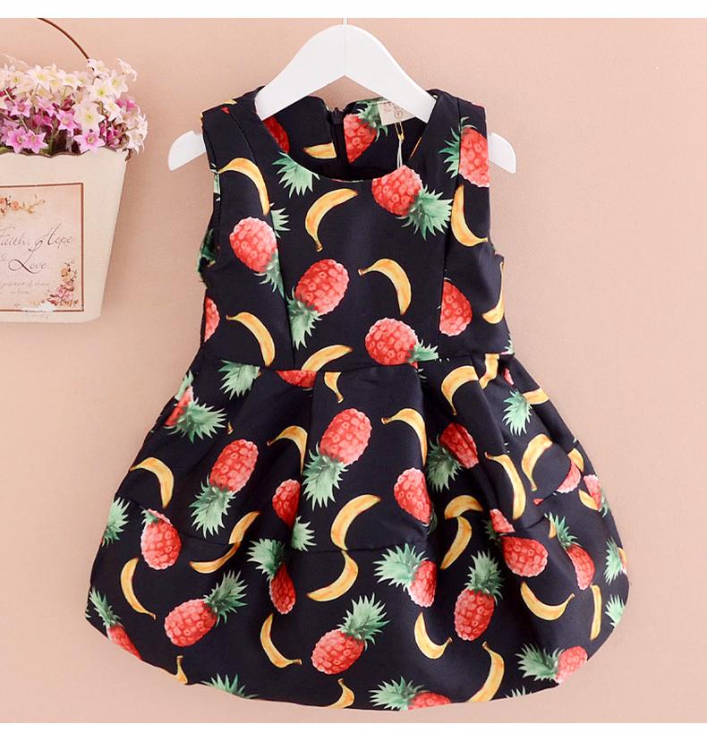 robe 2015 Cute New Baby Girl Dress Princess Summer Style Girls Dress Kids Clothes Sleeveless Girl Dress vestidos infantis(China (Mainland))