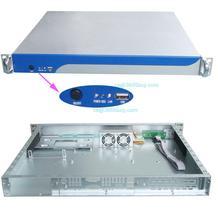 Aluminum panel 1U case S1380 chassis network firewall