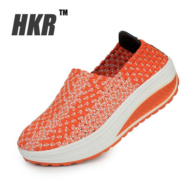 HKR 2016 весной платформы обувь женская летняя обувь платформа женщины повседневная ...