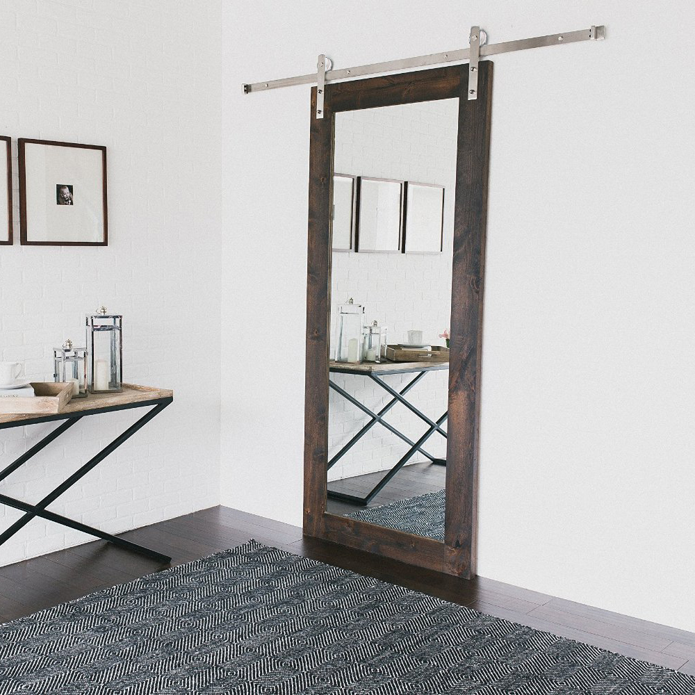 steel double sliding barn door hardware straight hanger barn door
