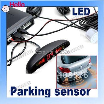 LED Display 4 Car Parking Sensor Reverse backup Radar System 12V White/Black/Silver 1689