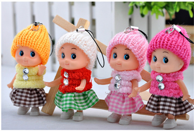 1PCS NEW Kids Toys Soft Interactive Baby Dolls Toy Mini Doll For girls and boys Free Shipping(China (Mainland))