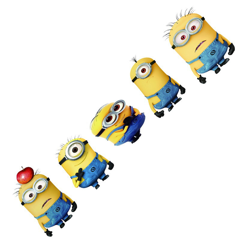 New Cool Creative 3D Design Despicable Me Minions Cute Funny Cartoon Glue Sticker Car Decal Covers Waterproof on Rear Windshield(China (Mainland))
