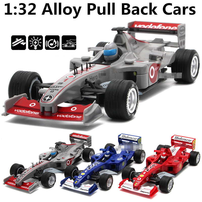 1:32 alloy cars,F1 formula one racing high simulation model,metal diecasts,toy vehicles,pull back&flashing&musical,free shipping(China (Mainland))