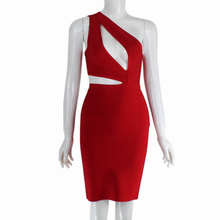 2015 new arrival high quality one shoulder bandage dress summer dress ladies' party elegant bodycon boandage dress wholesale