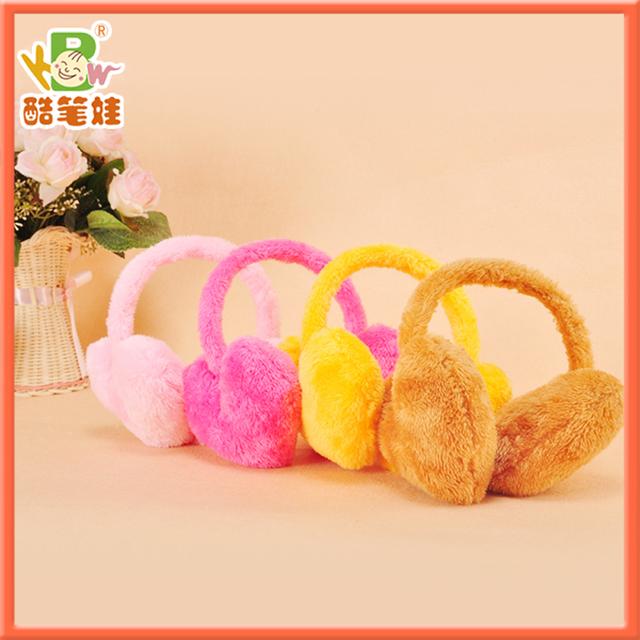High quality cute plush earflap toy heart shape winter earcap warm ear cover 5 colors Free shipping