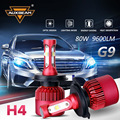 Auxbeam All In One SMD Chips Car Headlight Bulbs Led Head Light 6500K 80W pair H4