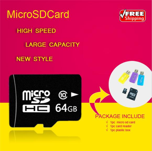 new arrival Micro SD Card Class 10 TF Memory Card super mini T-Flash Transflash gift reader+adapter 2g 4g 8g 16g 32g 64g(China (Mainland))