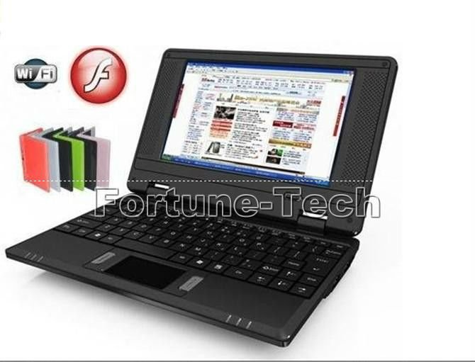 New 7 inch mini laptop VIA8880 Dual Core 1.5GHz WIFI 1GB RAM 8GB ROM Android 4.2 HDMI Webcam mini laptop UMPC
