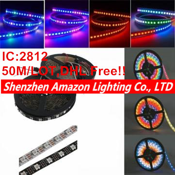 50M/lot DC 5V WS2812B 2812 IC 60LEDs/M SMD 5050 RGB Led Strip Light addressable Dream Color LED Pixel Strip,Non-waderproof(China (Mainland))
