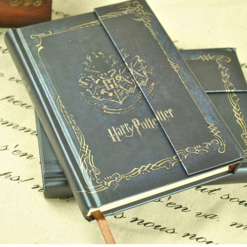 harry potter livre vintage notebook diary book hard cover bloc notes agenda. Black Bedroom Furniture Sets. Home Design Ideas