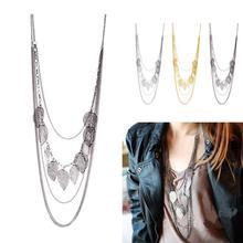 Best Quality 3 colors women dress decoration Chain Bar Beads Long Strip Pendant Necklaces Hot Promotions