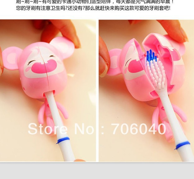 FREE SHIPPING Home decoration Bathroom Set Accessories Cartoon Plastic Suction Cup Toothbrush Holder Manual Opening 2409(China (Mainland))