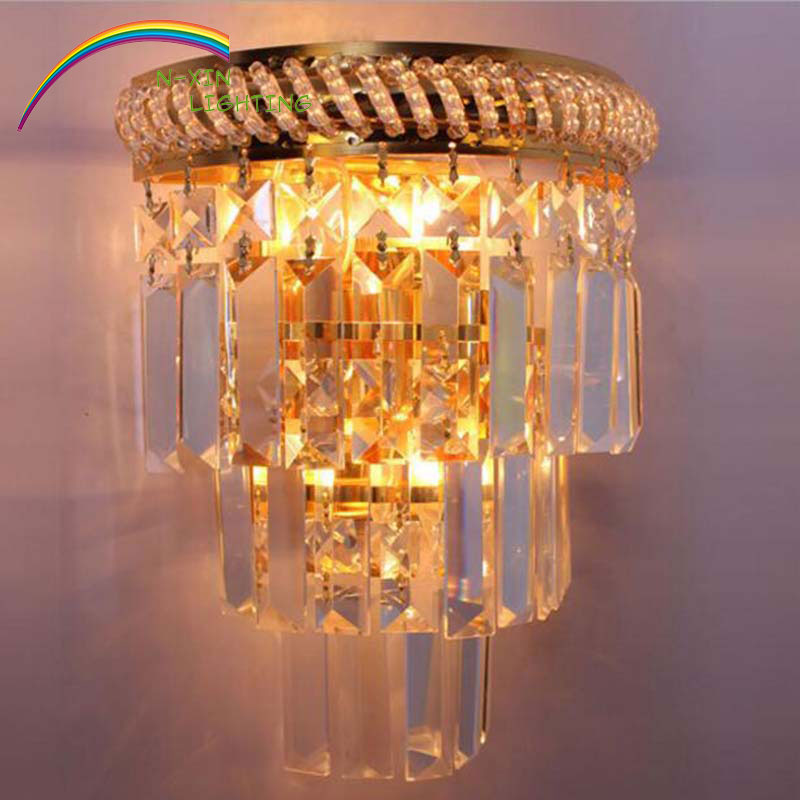 crystal wall lamp led blub wall light ikea home lighting bedroom indoor sconce modern style bedside lamps kitchen cabinet <br><br>Aliexpress