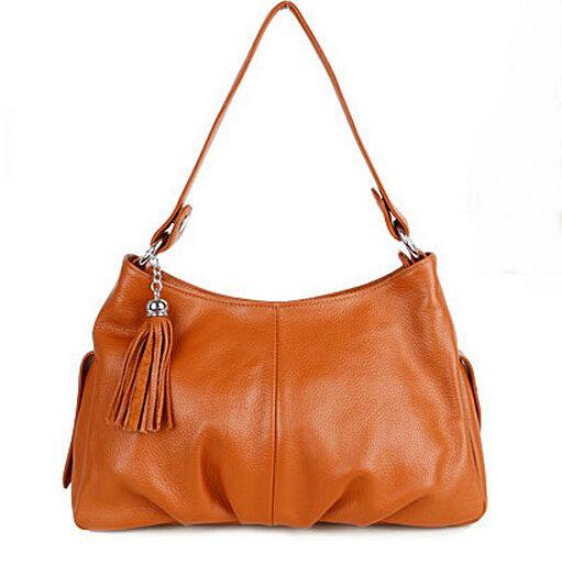 Фотография Genuine leather handbag tassel first layer of cowhide small bag one shoulder fashion women