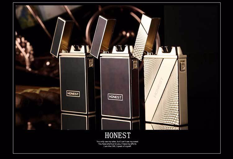 ถูก 6ชิ้น/ล็อต2017ที่มีคุณภาพสูงUSB arcเบาisqueiroเป็นของขวัญคริสมาสต์สำหรับผู้ชายควันเครื่องมือบุหรี่windproofเบาเบา